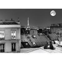 Affiche Affiche papier - La Tour Eiffel de la rue St Eleuthere - Carrara - 50x70 cm