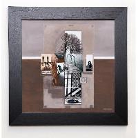 Affiche BALTHAZAR Image encadree Le plongeoir 37x37 cm Beige - Generique