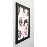 Affiche BAMFORD Image encadree Baby Kiku - 47x57 cm - Rose - Generique