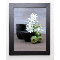 Affiche BEYLER CATHERINE Image encadree Composition Zen - Coupes. fleurs d'Agapanthe et Pavots - 37x47 cm - Multicolore - Generique