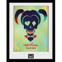 Affiche Cadre collector Suicide Squad Harley Quinn SKULL 15X20CM
