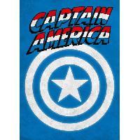 Affiche Poster metallique Marvel Emblems - Captain America - Generique