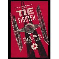 Affiche Poster metallique Sienar Fleet Systems Presents Tie Fighter Star Wars - Generique