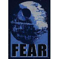 Affiche Poster metallique Star Wars Galactic Propaganda - Fear - Generique
