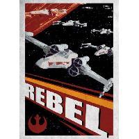 Affiche Poster metallique Star Wars Galactic Propaganda - Rebel - Generique