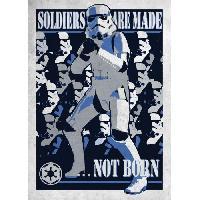 Affiche Poster metallique Star Wars Galactic Propaganda - Soldier are made...Not Born - Generique