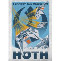 Affiche Poster metallique Star Wars Galactic Propaganda - Support The Rebellion - Generique