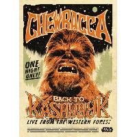 Affiche Poster metallique Star Wars Legends - Chewbacca - Generique