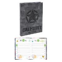 Agenda - Organiseur - Recharge CALL OF DUTY Agenda scolaire 320 pages - 1 jour par page - 120 x 170 mm - Couverture PU + Marque Ruban métal - Aucune