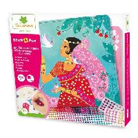 Agenda - Organiseur - Recharge SYCOMORE -STICK'N FUN SEQUINS PRINCESSES DU MONDE
