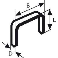 Agrafe Agrafes a fil plat type 54 - 12.9 x 1.25 x 14 mm