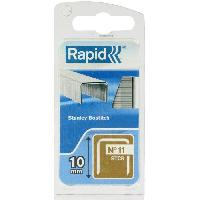 Agrafe RAPID Agrafes galvanisees - Fil plat - No11 STCR-10 mm