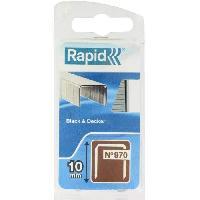 Agrafe RAPID Agrafes galvanisées - Fil plat - N°970/10 mm