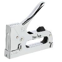 Agrafeuse TEC HIT Agrafeuse chrome professionnelle + 400 agrafes (Qualité supérieure) - Tech-it