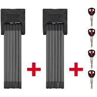 Aide A La Conduite - Securite ABUS  Lot de 2 Antivols pliables Bordo Twin 90cm