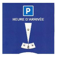 Aide A La Conduite - Securite Disque Carton De Stationnement Europeen Zone Bleue PVC Generique