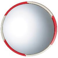 Aide A La Conduite - Securite Miroir convexe orientable Diametre 60cm - Rouge et blanc - ADNAuto