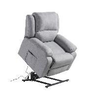 Aide A La Mobilite Fauteuil releveur de relaxation RELAX - Tissu gris chiné - Moteur électrique et lift releveur - Aucune