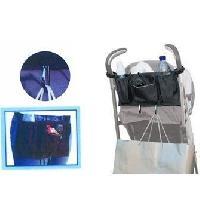 Aide A La Mobilite Organisateur VITAEASY pour déambulateur ou fauteuil roulant - Fixation par 2 sangles - 2 mousquetons métal - Aucune