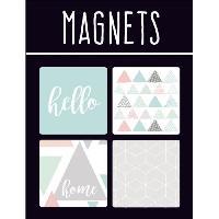 Aimants - Magnets EMOTION Lot de 4 magnets style Scandinave - Couleur pastel Generique
