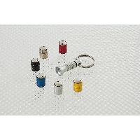Alarme - Simulateur D'alarme - Module Hyperfrequence Kit 4 bouhons de valve -SPINNING- antivol - Argent