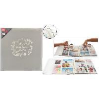 Album - Album Photo Album photo a 3 anneaux - 300 photos - 10 x 15 cm - Gris - Aucune