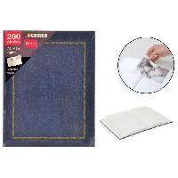 Album - Album Photo Album photo a pochettes - 200 photos - 10 x 15 cm - Marbre - Bleu - Aucune