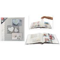 Album - Album Photo Album photo traditionnel - 40 pages - 80 côtés - Imprimé coeur - Aucune