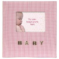 Album - Album Photo BABY GINGHAM Album photo - 10 x 15cm- Rose