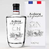 Alcool AUDACE a la Francaise Gin distillé - 40° - 70 cl - Avec etui