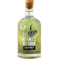 Alcool Breiz'Ile - Les arrangés du rhum - Punch au rhum - Gingembre Menthe - 28.0 % Vol. - 70 cl