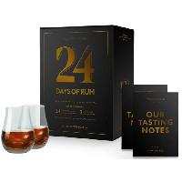 Alcool Calendrier de l'avent Rhum - 24 Days of Rum Edition 2021 - 2 verres offerts - 24 x 2 cl