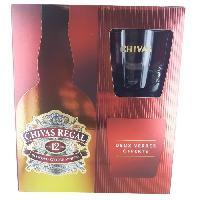 Alcool Chivas - 12 ans - Blended whisky - Ecosse - 40.0% Vol. - 70 cl - Coffret avec 2 verres