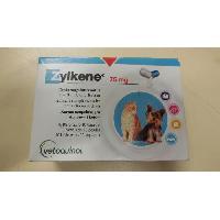 Aliment Pellicule - Comprime Alimentaire ZYLKENE Boîte de 100 gélules Vetoquinol - 75 mg - Pour chat et petit chien - Aucune
