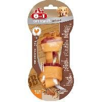 Alimentation - Croquettes 8IN1 Friandise os a macher - Gout barbecue garni de viande de poulet - Pour chien de petite race a race moyenne