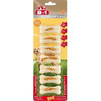 Alimentation - Croquettes 8IN1 Friandise os a macher ferme Delight - Garni de viande de poulet - Pour chien - 7 pieces
