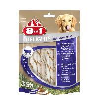 Alimentation - Croquettes 8IN1 Friandise stick a macher - En peau de boeuf garni de boeuf - Pour chien - 35 pieces