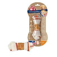 Alimentation - Croquettes 8in1 Triple Flavour Os a macher Premium M aux Boeuf. Porc. Poulet - Pour chien de race moyenne - 1 piece