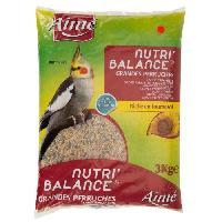 Alimentation - Croquettes AIME Nutri'balance Melange de graines - Pour grandes perruches - 3kg