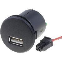 Alimentation 12V - 24V Alimentation USB 4PIN 5V 2.1A noir - fils nus