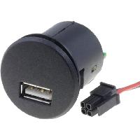 Alimentation 12V - 24V Alimentation USB 4PIN 5V 2.1A noir - fils nus ADNAuto