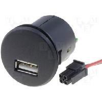 Alimentation 12V - 24V CONVERTISSEUR 12VOLT 5 VOLT 2-1A SOCLE USB FEMMELLE A PERCER Generique