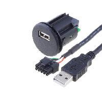 Alimentation 12V - 24V Rallonge USB 0.9m ADNAuto