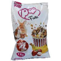 Alimentation AIME Friandise melange de fruits et cereales - Pour lapins et rongeurs - 1 kg -x1-