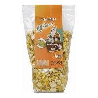 Alimentation AIME Friandises grains de mais souffles - Pour lapins et rongeurs - 50 g -x1-