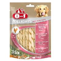 Alimentation Delights Twisted Sticks Pork 35pcs Os a macher pour chien