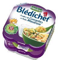 Alimentation Infantile BLEDICHEF Fondue De Courgettes Maca. 2x230g -x4
