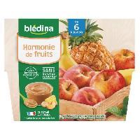 Alimentation Infantile BLEDINA - Coupelles Harmonie de fruits 4x100g
