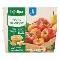 Alimentation Infantile BLEDINA - Coupelles fruits du verger 8x100g