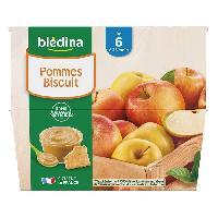 Alimentation Infantile BLEDINA - Coupelles pommes biscuit 8x100g